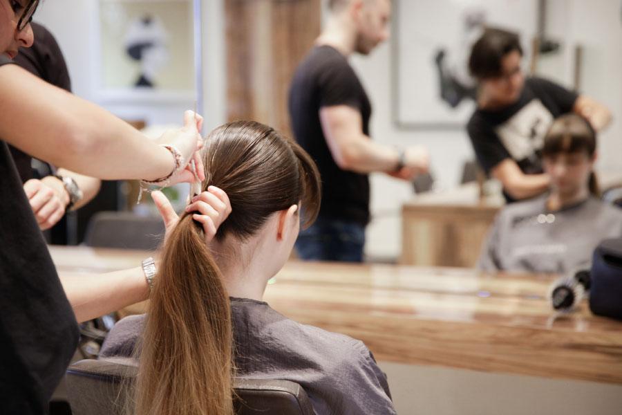 Senior Stylist Marta doing a hair up