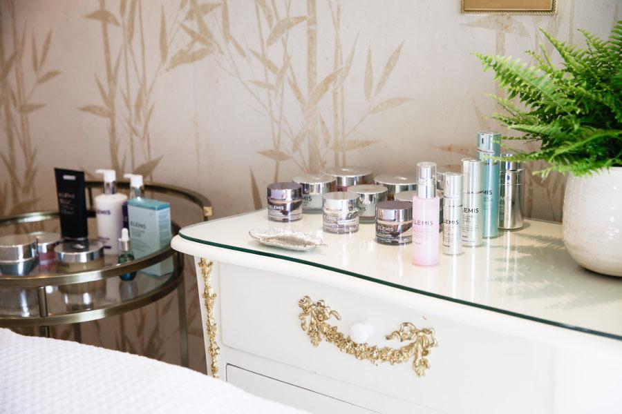 ELEMIS products at the beauty room at Hiro Miyoshi at The Ritz