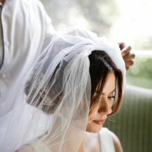 Gorgeous bridal hair done by Hiro Miyoshi